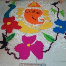 Primary Rangoli Making 2015