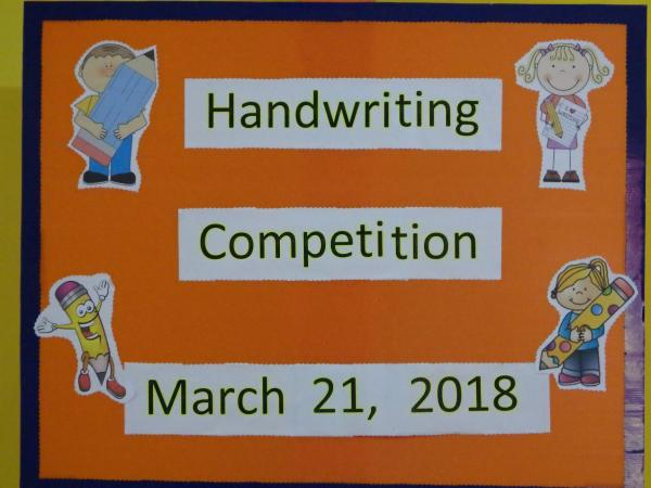 EYFS Hand writing Competition