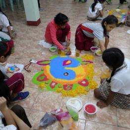Primary Rangoli competition