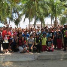 Community service Bangsean beach cleaning