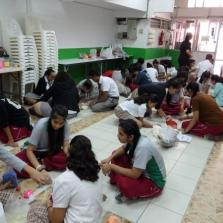 Secondary Intramural Rangoli Making Competition 12-10-17